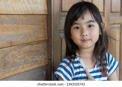 Asian Thailand kids little girl smiling happy