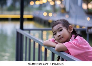 Asian Thailand kids little girl smiling happy