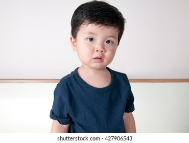 asian toddler boy portrait with