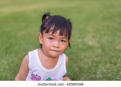 Asian toddler girl in portrait shot