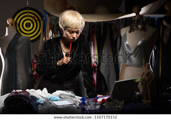 Asian Tomboy Fashion Designer Blonde Hair Stock Photo Edit Now 1507170152