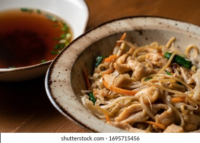 Asian Traditional Food Ramen with Chicken