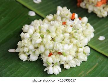 Jasmine Flower Necklace Images Stock Photos Vectors Shutterstock