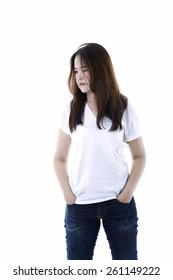 Asian woman casual dress