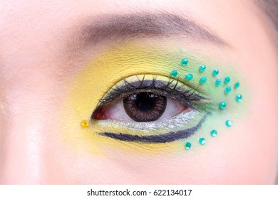 Asian woman fashion makeup color cosmetic portrait