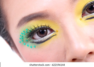 Asian woman fashion makeup colour cosmetic portrait