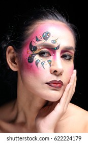 Asian woman fashion makeup colour cosmetic portrait