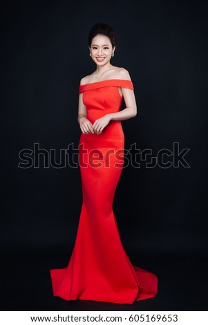 Asian Woman Fashion Makeup Luxury Red Stock Photo Edit Now