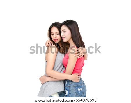 Caucasion girls lesbian