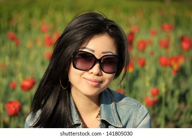 Asian woman in the park