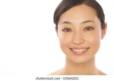 Asian woman skin care beauty portrait