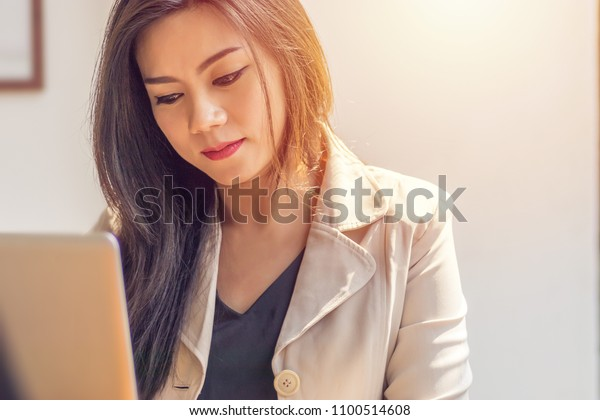 Asian woman suffering from mental illness. business woman in depression fear, sad and unhappy from work environment at office workplace