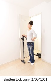 Asian woman of that tedious cleaning