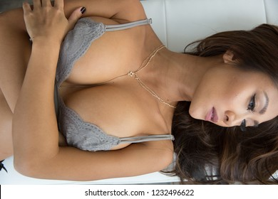 Asian Woman Wearing Lingerie
