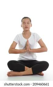 Asian woman in yoga