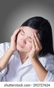 Asian women feel tired.