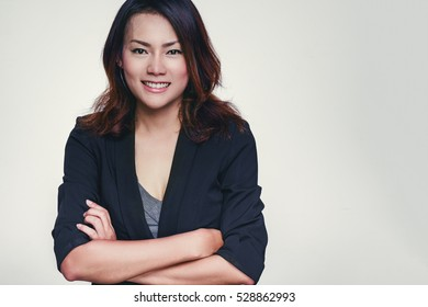 Asian women are  Happy mood,.focus on face.