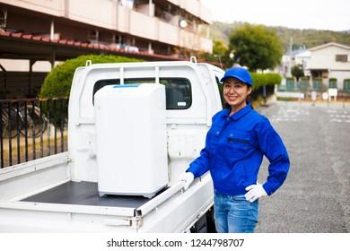 Asian women and light trucks