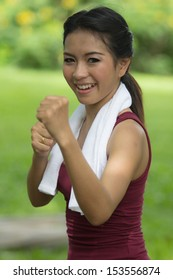 Asian women started boxing for self-defense.