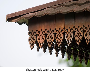 Asian wooden traditional interior design