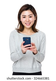 Asian Young woman use of the cellphone