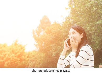 Asian young woman use cellphone