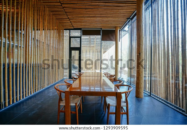 Asian Zen Style Design Meeting Room Stock Photo Edit Now 1293909595