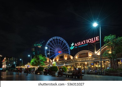 ASIATIQUE The Riverfront Factory District on February 10, 2016 in Bangkok, Thailand.