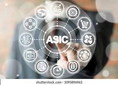 ASIC Blockchain Cryptocurrency Miner. Bitcoin Machine Business Fintech Digital Money Production.