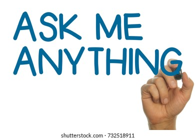 ASK ME ANYTHING Handwritten on a Screen