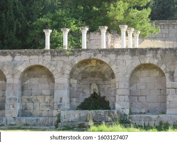 The Asklepieion of Kos. Asclepeions  were healing temples located in ancient Greece, dedicated to Asclepius, the first doctor-demigod in Greek mythology.