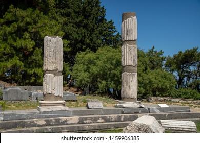 Asklepieion on the Greek island of Kos,   ancient greek sanatorium dedicated to Asclepius, the god of medicine.
