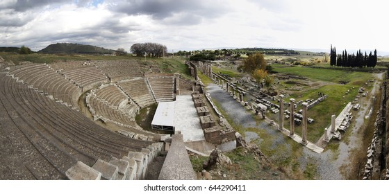 Asklepion in Bergama, Izmir, Turkey - November 2015 : View of ancient ruins in Asklepion in Bergama
