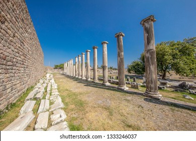 Asklepion in Bergama, one of the most important health centers of ancient times. Bergama, Izmir, Turkey.