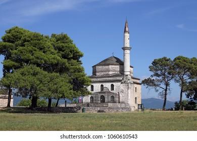 Aslan Pasha mosque Ioannina Greece summer season