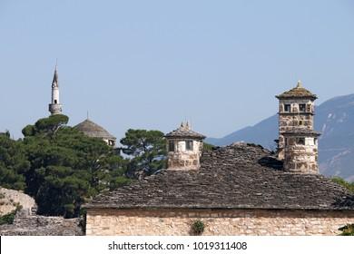 Aslan Pasha mosque and old stone house Ioannina Greece