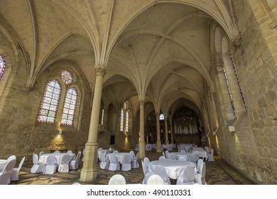 ASNIERES SUR OISE, FRANCE, SEPTEMBER 10, 2016 : Architectural details of Royaumont abbey, september 10, 2016 in Asnieres sur oise, Val d'oise, France