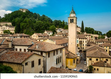 Asolo, historic city surrounded by vineyards, Italy