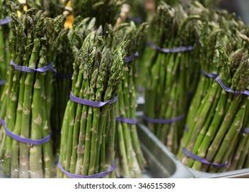 Asparagus Bundles in Rubber Band