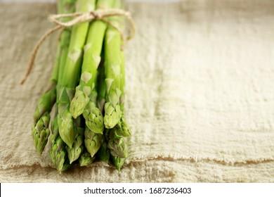 Asparagus,  Fresh Asparagus on white background