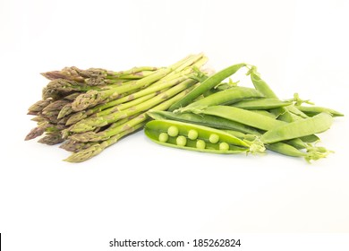 asparagus and green peas