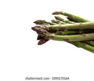 Asparagus isolated. Fresh green asparagus on a white background.