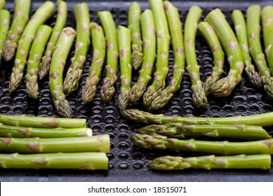 Asparagus Spears on a Grill