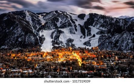 Aspen City Skyline