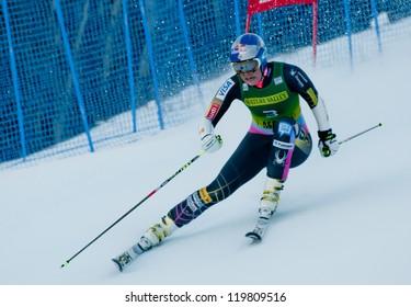ASPEN, CO - NOV 24: Lindsey Vonn at the FIS Audi Worldcup Giant Slalom in Aspen, CO on November 24, 2012