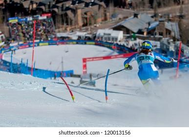 ASPEN, CO - NOV 25: Marusa Ferk at the FIS Audi Worldcup Slalom in Aspen, CO on November 25, 2012