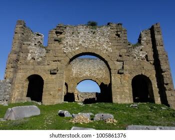 Aspendos ruins. Turkey