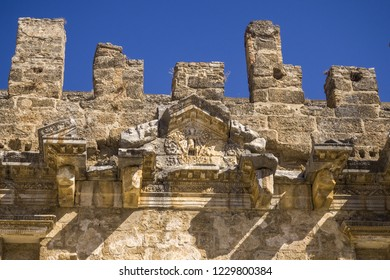 Aspendos, Tourkey - 09/10/2018 - ancient amphiteater historic attraction