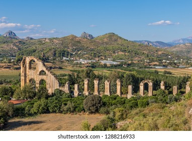 Aspendos, Turkey - displaying one of the most well preserved Roman theatre in the World, and a wonderful Roman aqueduct, Aspendos is an important attraction of the Antalya province