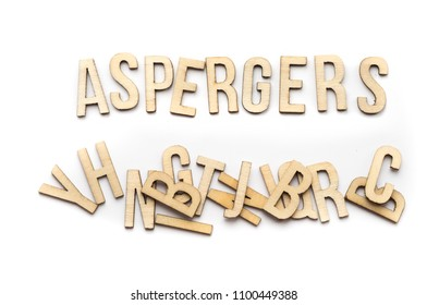 Aspergers concept, word spelled out in wooden letters